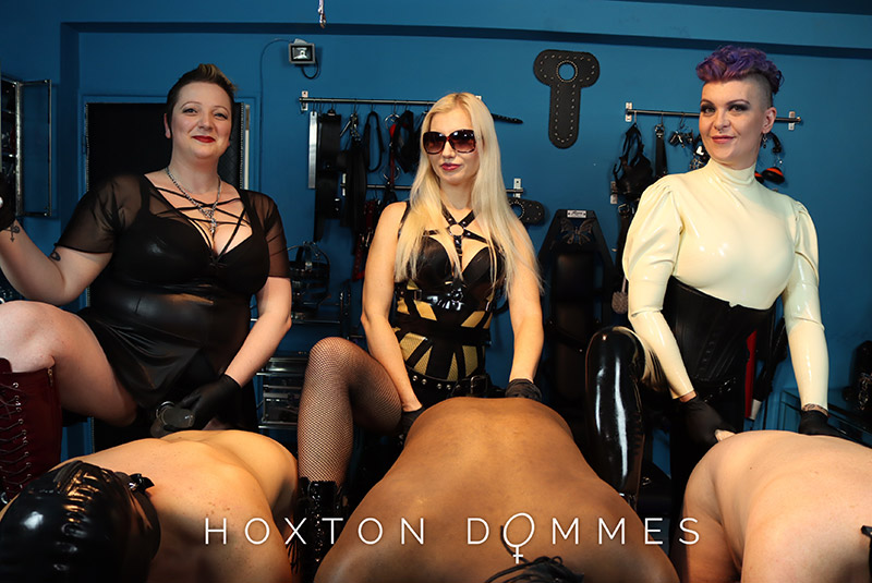 triple domination by three beautiful and very serious mistresses